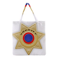 Sheriff S Star Sheriff Star Chief Grocery Tote Bag