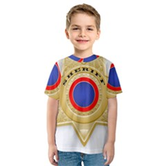 Sheriff S Star Sheriff Star Chief Kids  Sport Mesh Tee