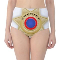 Sheriff S Star Sheriff Star Chief High-Waist Bikini Bottoms