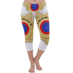 Sheriff S Star Sheriff Star Chief Capri Yoga Leggings