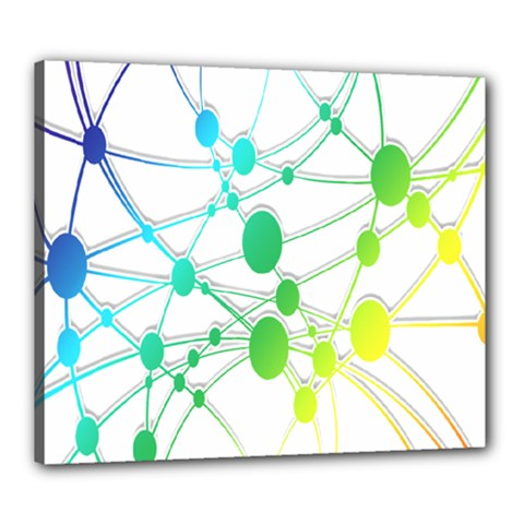 Network Connection Structure Knot Canvas 24  x 20