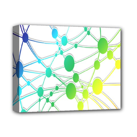 Network Connection Structure Knot Deluxe Canvas 14  x 11