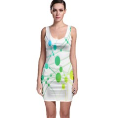 Network Connection Structure Knot Sleeveless Bodycon Dress