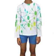 Network Connection Structure Knot Kids  Long Sleeve Swimwear