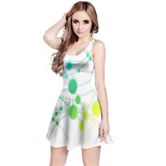 Network Connection Structure Knot Reversible Sleeveless Dress