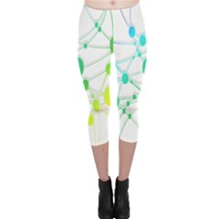Network Connection Structure Knot Capri Leggings