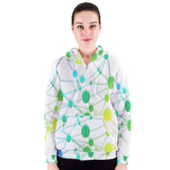 Network Connection Structure Knot Women s Zipper Hoodie