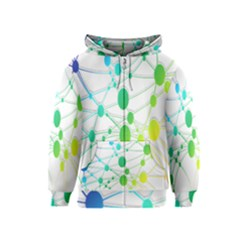 Network Connection Structure Knot Kids  Zipper Hoodie