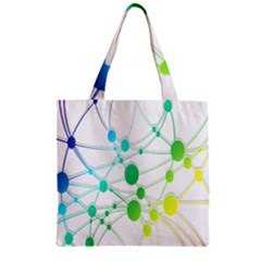 Network Connection Structure Knot Zipper Grocery Tote Bag