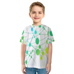 Network Connection Structure Knot Kids  Sport Mesh Tee
