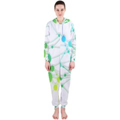 Network Connection Structure Knot Hooded Jumpsuit (Ladies)