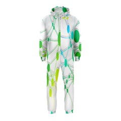 Network Connection Structure Knot Hooded Jumpsuit (Kids)
