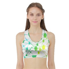 Network Connection Structure Knot Sports Bra with Border