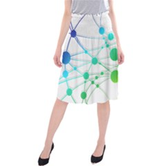 Network Connection Structure Knot Midi Beach Skirt