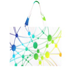 Network Connection Structure Knot Large Tote Bag