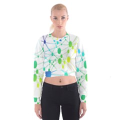 Network Connection Structure Knot Women s Cropped Sweatshirt