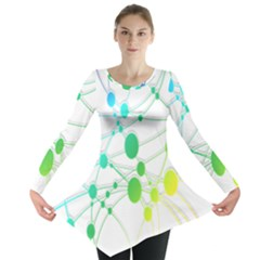 Network Connection Structure Knot Long Sleeve Tunic