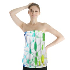 Network Connection Structure Knot Strapless Top