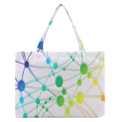 Network Connection Structure Knot Medium Zipper Tote Bag