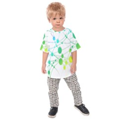 Network Connection Structure Knot Kids  Raglan Tee