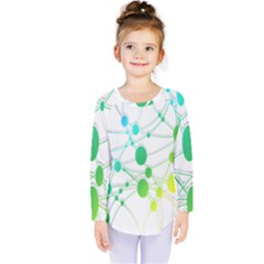 Network Connection Structure Knot Kids  Long Sleeve Tee