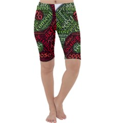 Tao Duality Binary Opposites Cropped Leggings