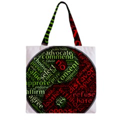 Tao Duality Binary Opposites Zipper Grocery Tote Bag