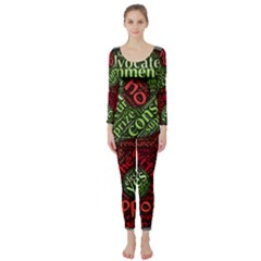 Tao Duality Binary Opposites Long Sleeve Catsuit