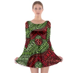Tao Duality Binary Opposites Long Sleeve Skater Dress
