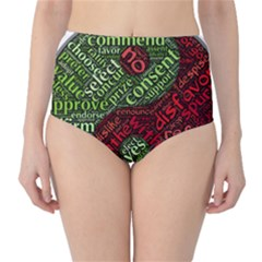 Tao Duality Binary Opposites High-Waist Bikini Bottoms