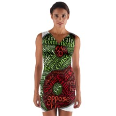 Tao Duality Binary Opposites Wrap Front Bodycon Dress