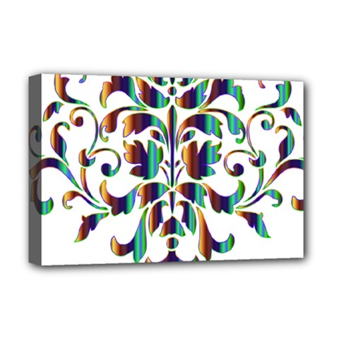 Damask Decorative Ornamental Deluxe Canvas 18  X 12