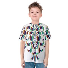 Damask Decorative Ornamental Kids  Cotton Tee