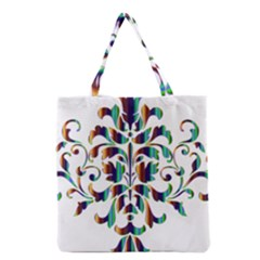 Damask Decorative Ornamental Grocery Tote Bag