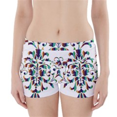 Damask Decorative Ornamental Boyleg Bikini Wrap Bottoms