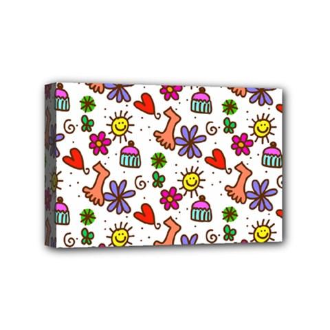 Doodle Pattern Mini Canvas 6  x 4