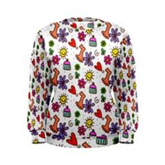 Doodle Pattern Women s Sweatshirt