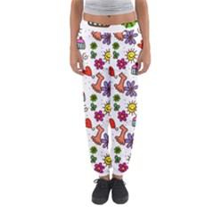Doodle Pattern Women s Jogger Sweatpants