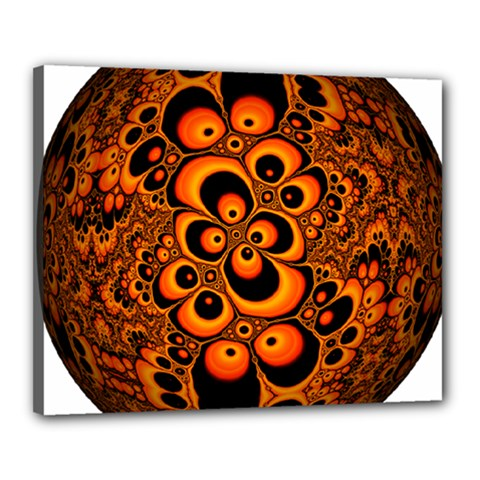 Fractals Ball About Abstract Canvas 20  x 16