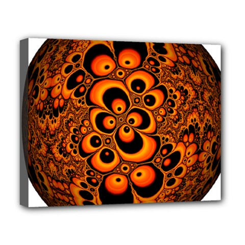 Fractals Ball About Abstract Deluxe Canvas 20  x 16