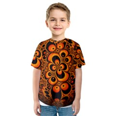 Fractals Ball About Abstract Kids  Sport Mesh Tee