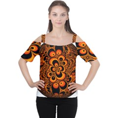 Fractals Ball About Abstract Women s Cutout Shoulder Tee