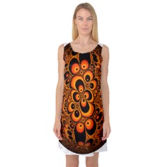 Fractals Ball About Abstract Sleeveless Satin Nightdress