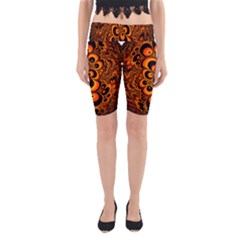 Fractals Ball About Abstract Yoga Cropped Leggings