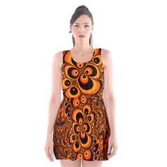 Fractals Ball About Abstract Scoop Neck Skater Dress