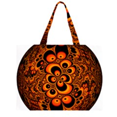 Fractals Ball About Abstract Large Tote Bag