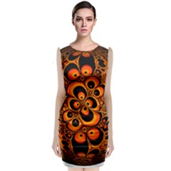 Fractals Ball About Abstract Classic Sleeveless Midi Dress