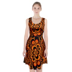 Fractals Ball About Abstract Racerback Midi Dress