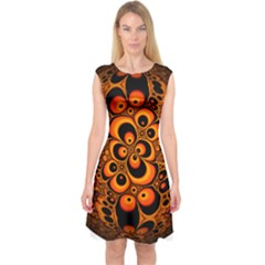 Fractals Ball About Abstract Capsleeve Midi Dress