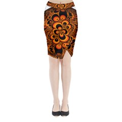 Fractals Ball About Abstract Midi Wrap Pencil Skirt